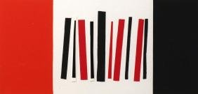 Sir Terry Frost RA, British 1915-2003-  ''Red and Black