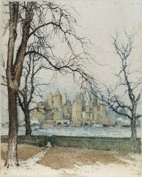 Luigi Kasimir, Austrian 1881-1962-  ''New York,