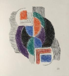 Sonia Delaunay, French 1885-1979-  Composition;