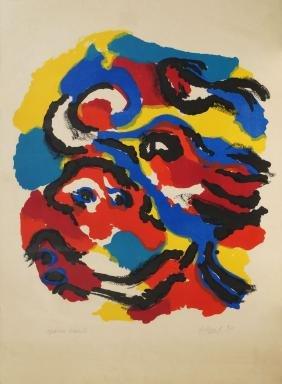 Karel Appel, Dutch 1921-2006-  Composition;  lithograph