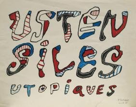 Jean Dubuffet, French 1901-1985-  ''Ustensiles