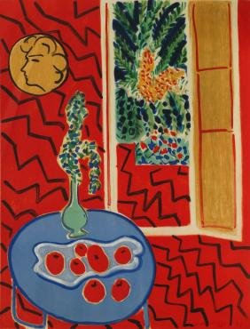Henri Matisse, French 1869-1954-  ''Intérieur rouge'';