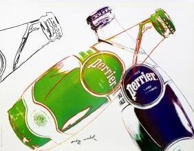 Andy Warhol, American 1928-1987-  ''Perrier (White)'',