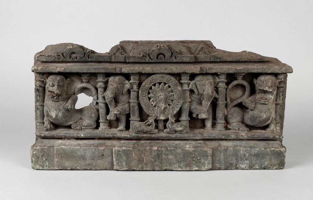 A Gandhara grey schist panel, India, 2nd/3rd century,