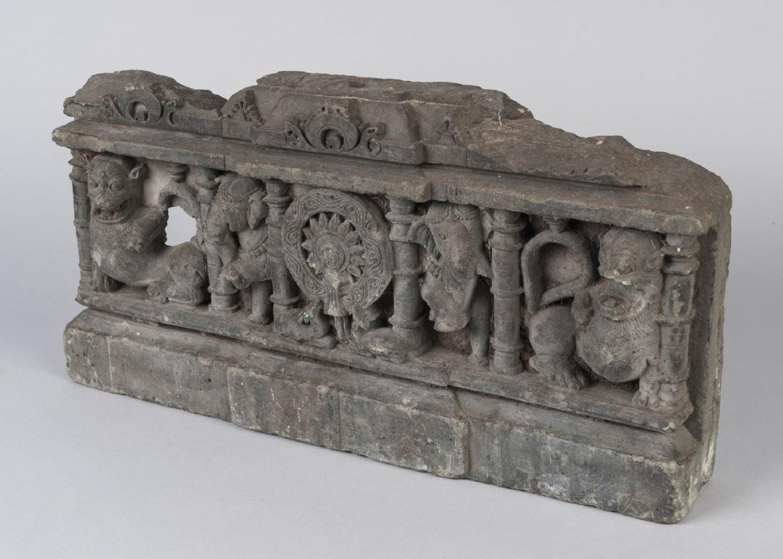 A Gandhara grey schist panel, India, 2nd/3rd century, - 2