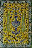 A Safavid cuerda seca tile panel Iran 17th century