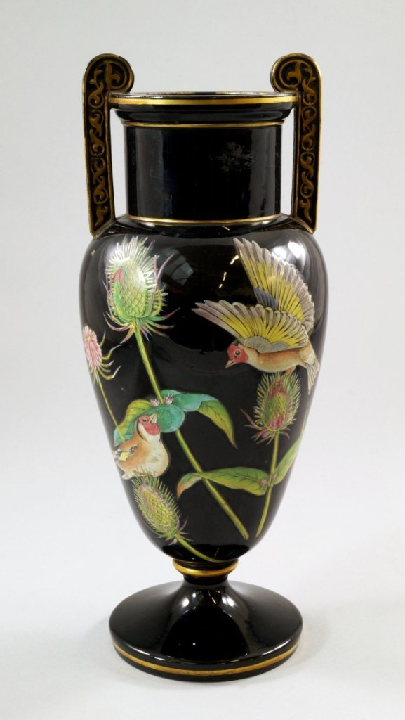 An English stoneware vase, possibly by the Jackfield