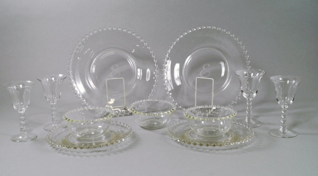 An extensive Continental glass service, 20th century,