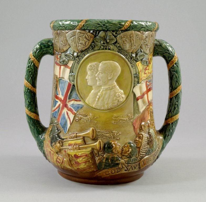 A Royal Doulton twin handled Loving Cup commemorating