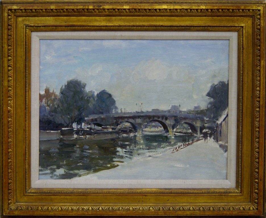 Edward Seago RWS RBA, British 1910-1974- The Pont Neuf,