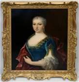 Manner of Jean-Marc Nattier, 18th century- Portrait of