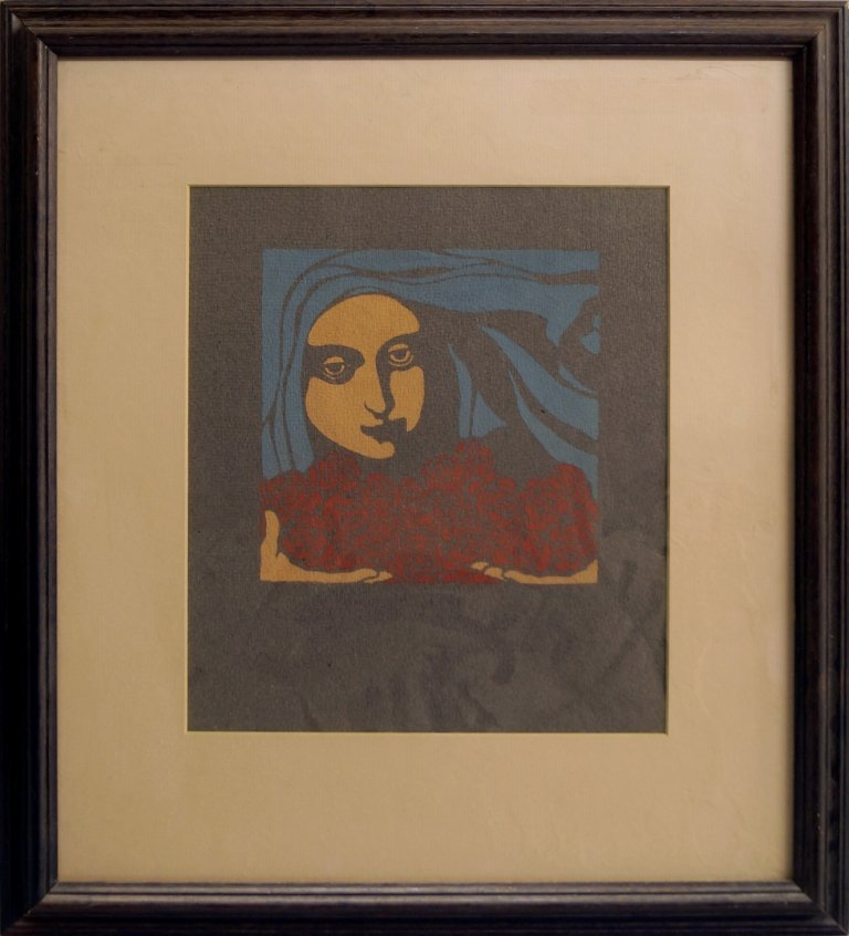 Koloman Moser, Austrian 1868-1918- Female head with