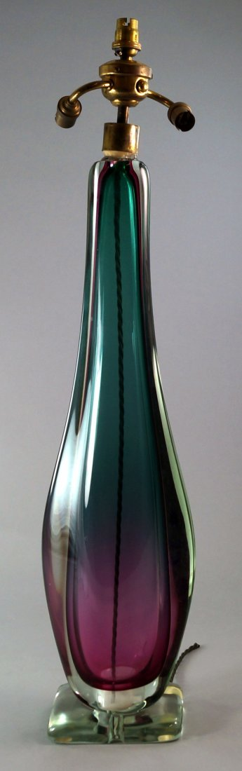 An Italian Murano Glass table light, c.1960s, 61 cm