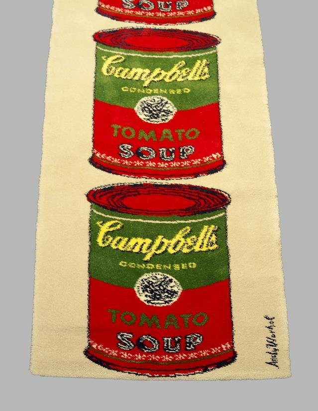 An Andy Warhol Rug, Campbell's Tomato Soup - 1965, A