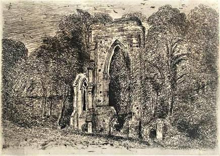 John Constable, RA, British 1776-1837-The Ruins of