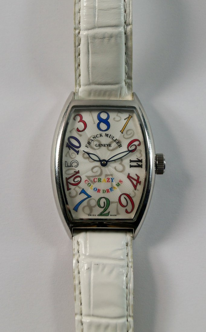 A Franck Muller Crazy Color Dreams stainless steel
