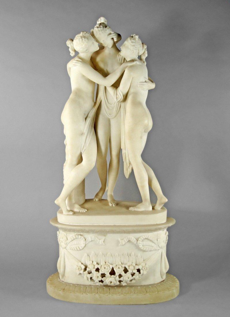 After Antonio Canova, Italian, 1757 - 1822, a model of