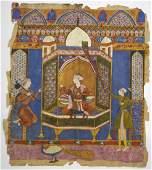 Persian School c1750 an Islamic miniature painting