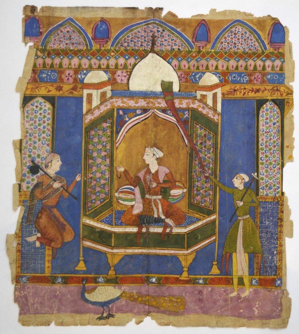 Persian School, c.1750, an Islamic miniature painting,