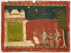 Mewar School c1800 an Indian miniature painting