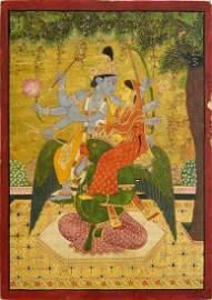 Kangra School, c.1880, an Indian miniature painting