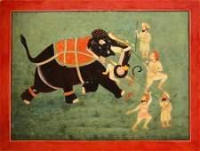 Mewar School c1880 an Indian miniature painting