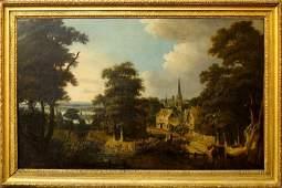 Follower of John Knox, Scottish 1776/8-1845- Village