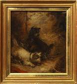 George Armfield, British 1810-1893- Terriers ratting