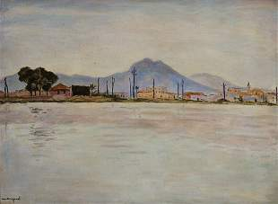 Albert Marquet, French 1875-1947- ''Le Lac de Tunis'',
