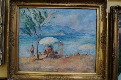 Henri Lebasque, French 1865-1937- ''Baigneuses''; oil