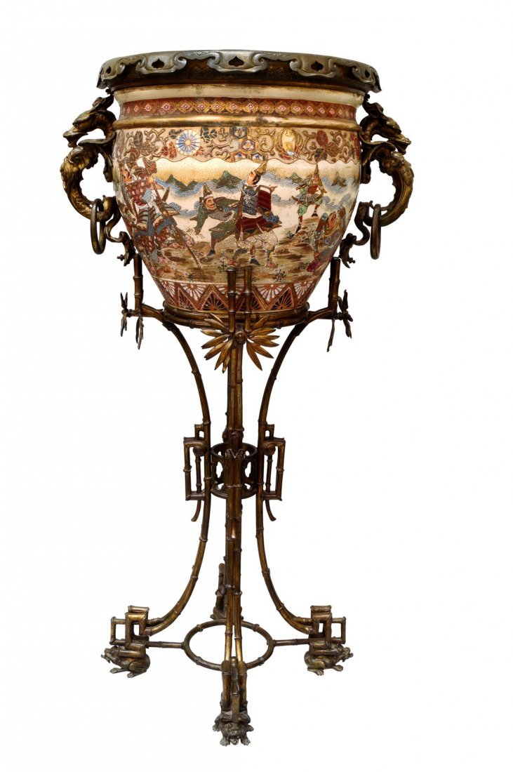 A French 'Japonism' Ormolu stand, attributed to Maison