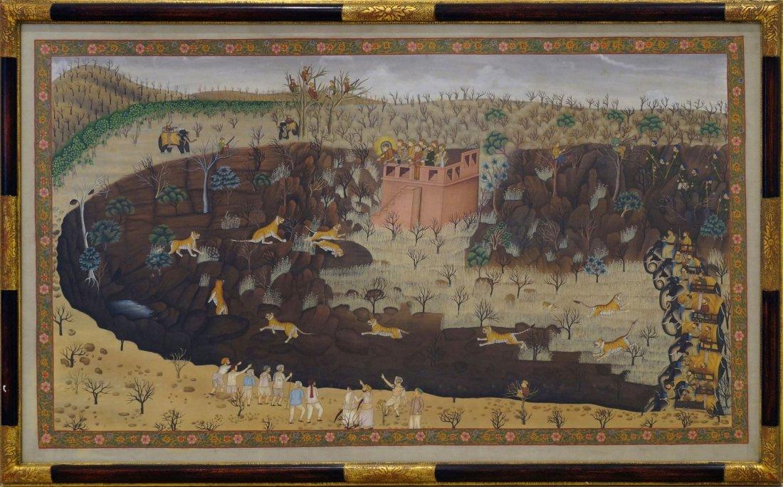A Kotah School landscape painting, 19th century,