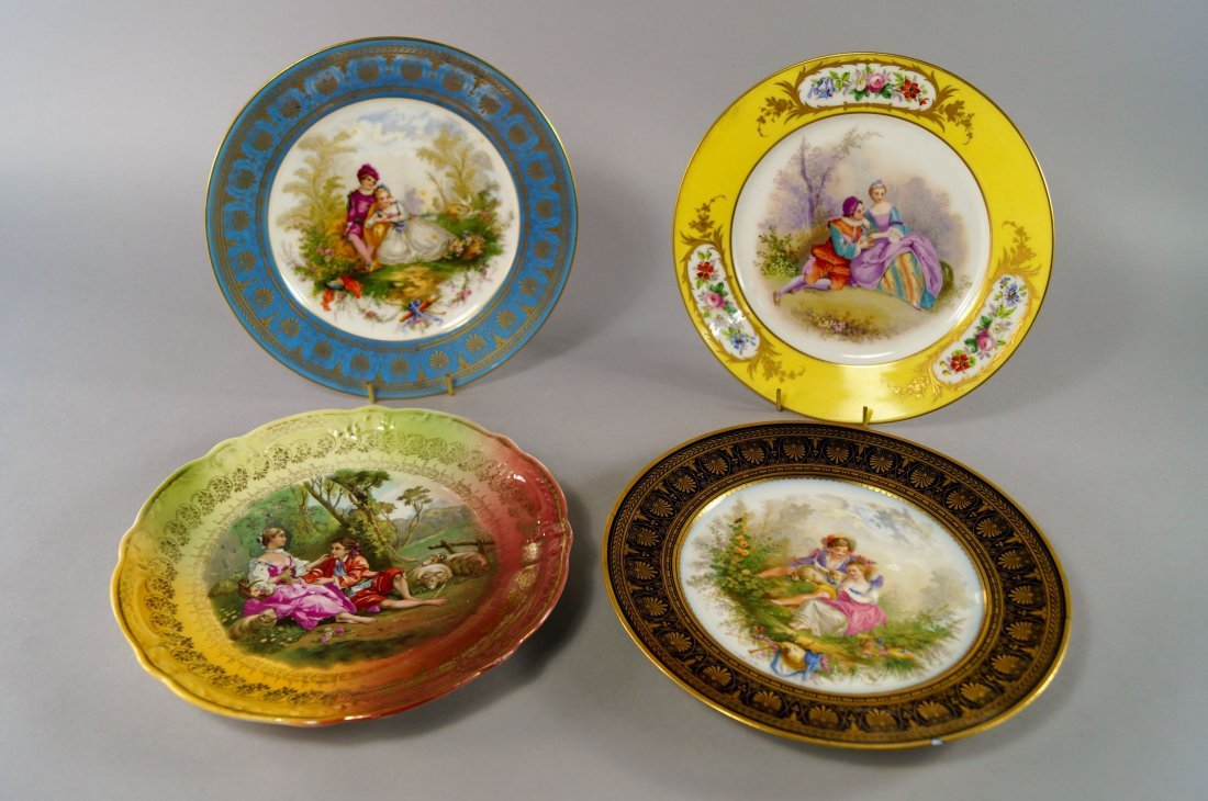 A Sevres porcelain cabinet plate, early 20th century,