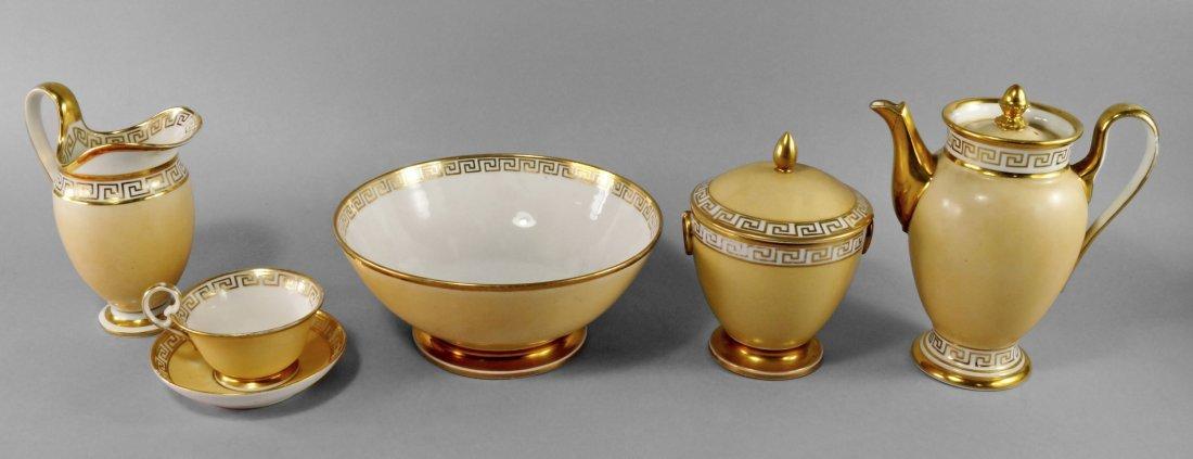 A Paris porcelain part coffee service, 19th century,