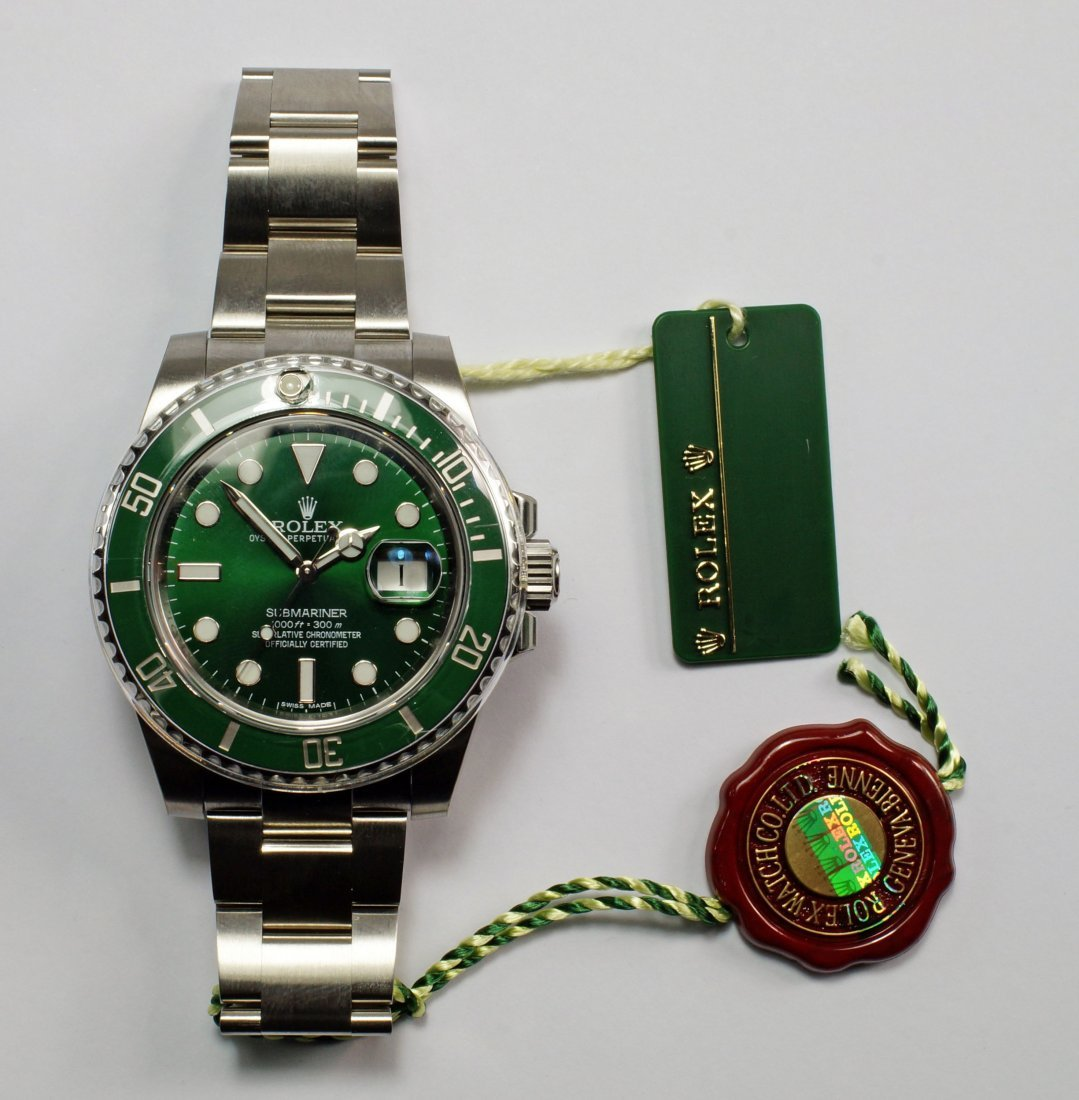 A Rolex Oyster Perpetual Submariner Date, Green 'Hulk'
