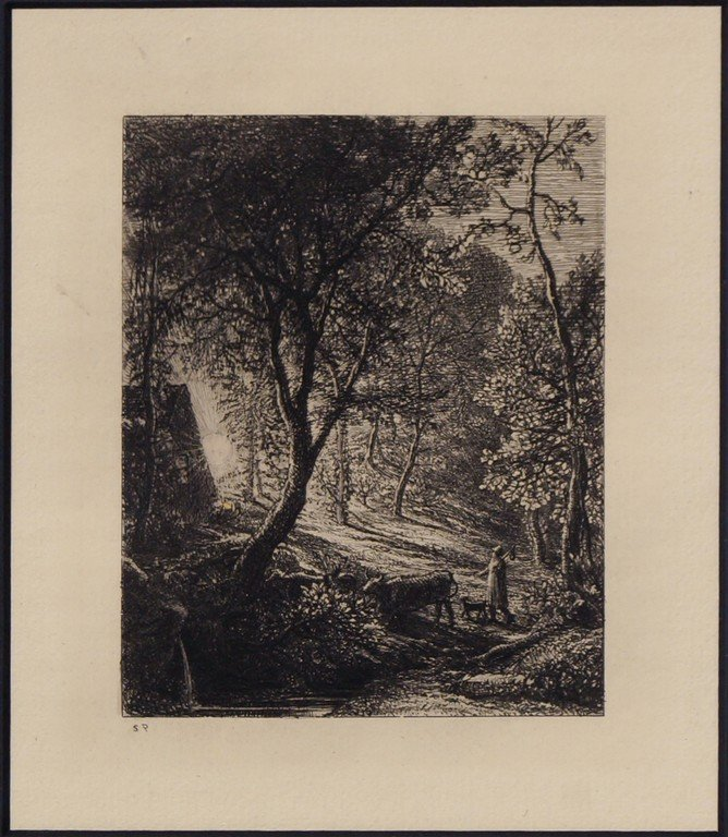 Samuel Palmer RWS, British 1805-1881- ''The Herdsman's