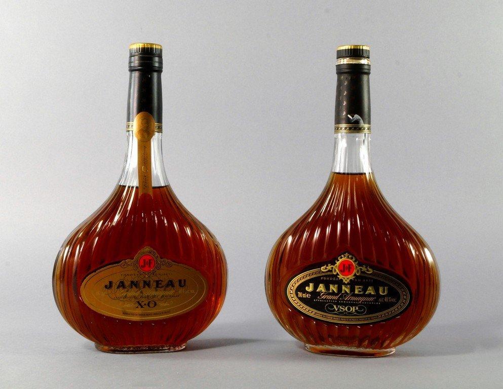 A bottle of Janneau Grand Armagnac VSOP, in