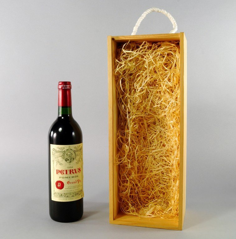 A bottle of Chateau Petrus 1994, in wooden gift box,