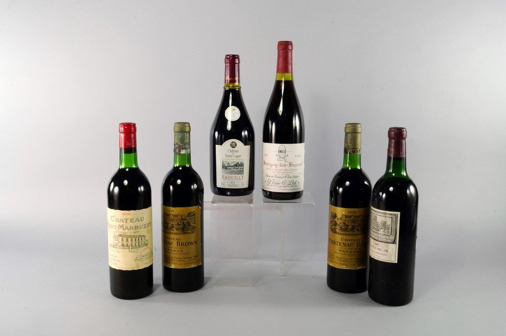 Two bottles of Chateau Cantenac Brown 1976, ullages