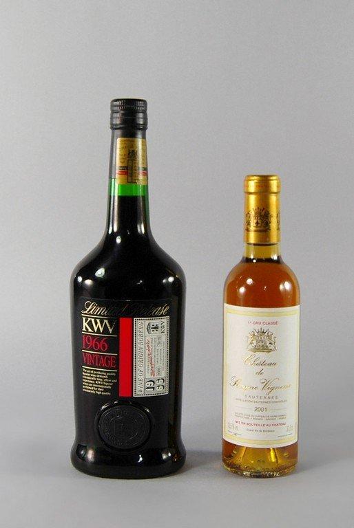 A half bottle of Chateau de Rayne Vigneau 2001, ullage