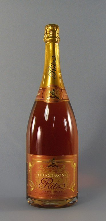 A Magnum of Ritz Brut rose champagne, together with