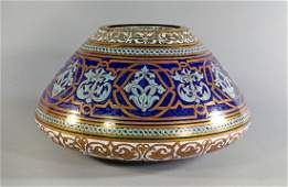 A large Philippe Brocard gilt and enamel decorated