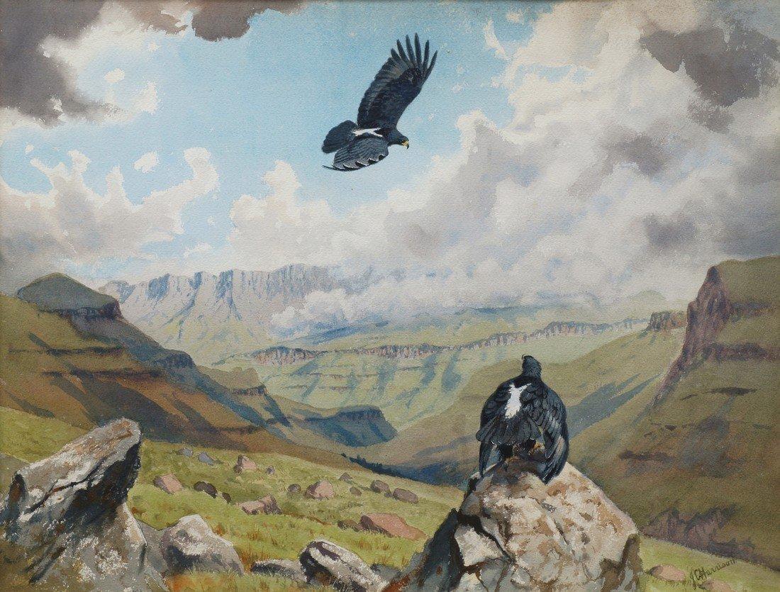 John Cyril Harrison, British 1898-1985- Black Eagles