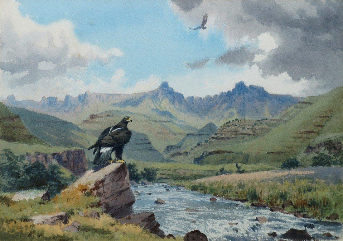John Cyril Harrison, British 1898-1985- Black Eagle at