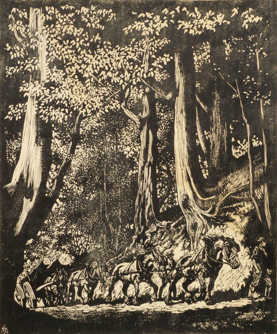 Hadyn Reynolds Mackey,  British 1883-1979-  Horse drawn