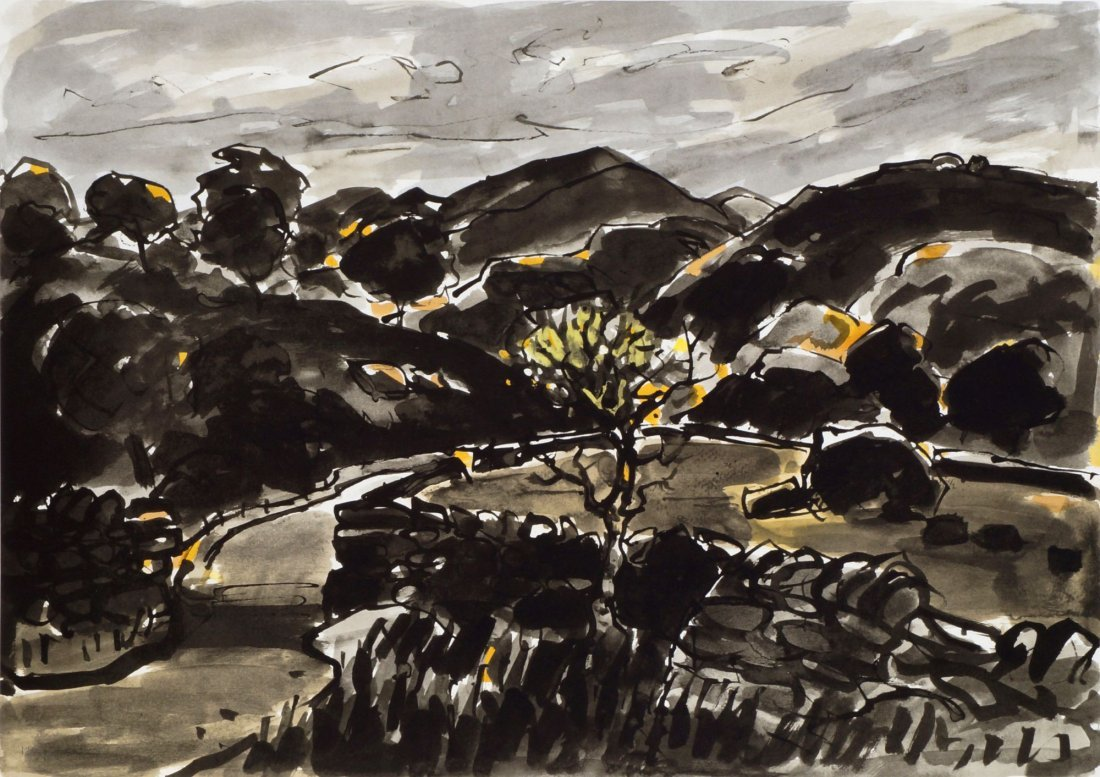 Sir Kyffin Williams KBE RA,  Welsh 1918-2006-