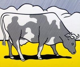 Roy Lichtenstein, American 1923-1997-  ''Cow Going
