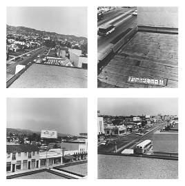 Ed Ruscha (born 1937) Rooftops, 1961/2004 4 silver