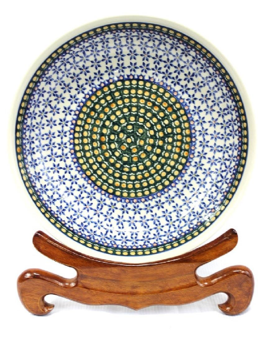 Hand made and painted ceramic bowl made in Poland