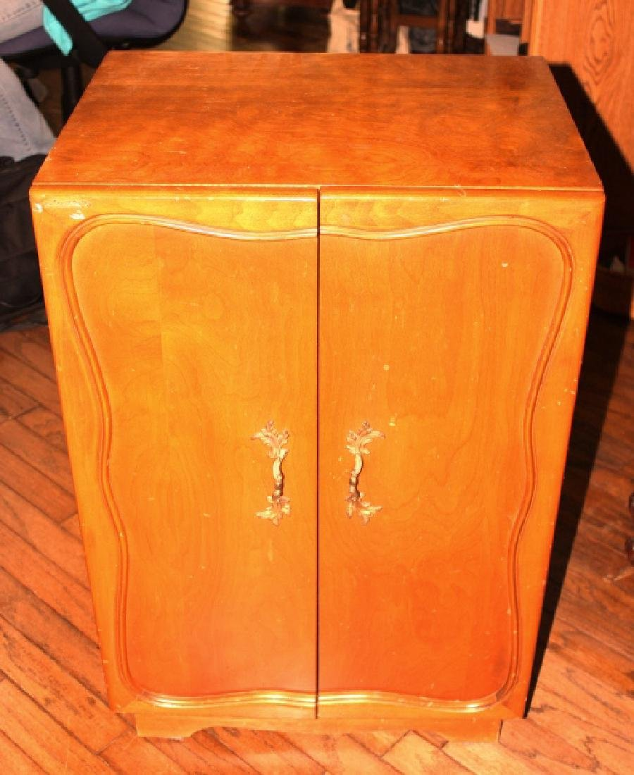 Vintage Two Door Cabinet with Shelves and Dividers